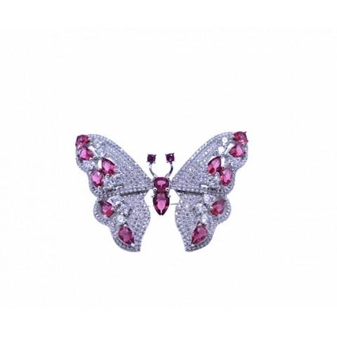 Broche Mariposa Circonitas y Plata 925