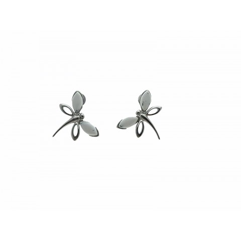 Pendientes Mariposa Agata Dendritica y Plata 925