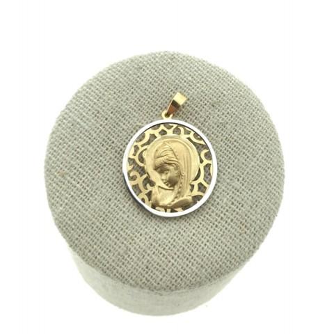 Medalla Virgen Niña Calada Oro 18K