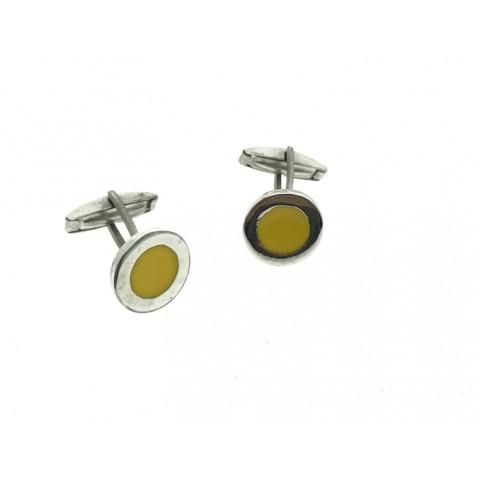 Gemelo Círculo amarillo Plata 925