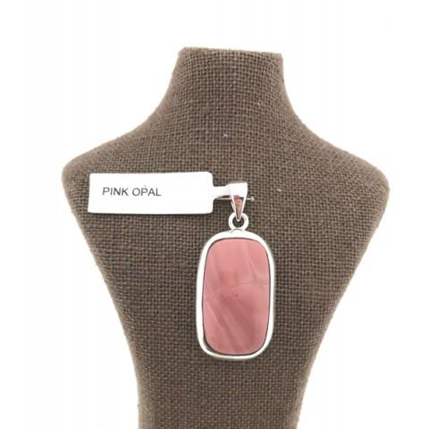 Opalo rosa colgante plata 925