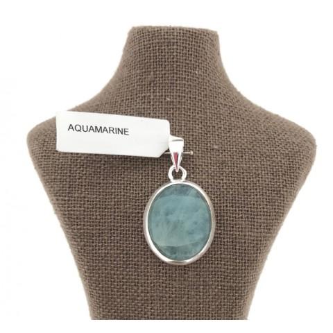 Aquamarine colgante plata 925